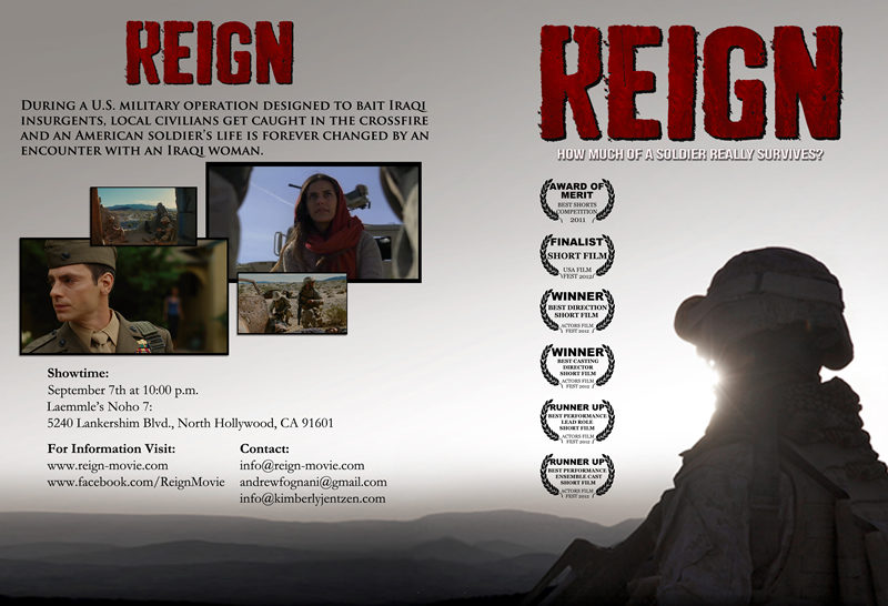 REIGN wins Best Direction at Actors Film Fest!