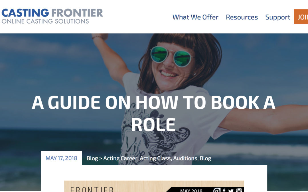 Casting Frontier – A Guide on How to Book a Role